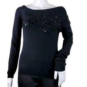 Moschino Sequined Silk & Wool sweater